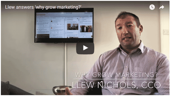Llew Nicholls Answers the Question 'Why Grow Marketing?'