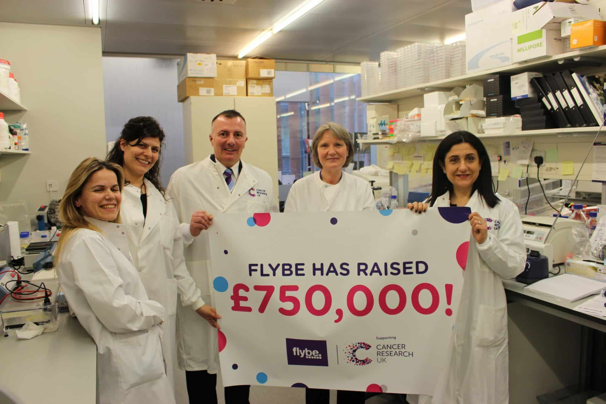 Flybe Reaches Fundraising Milestone For Cancer Research UK
