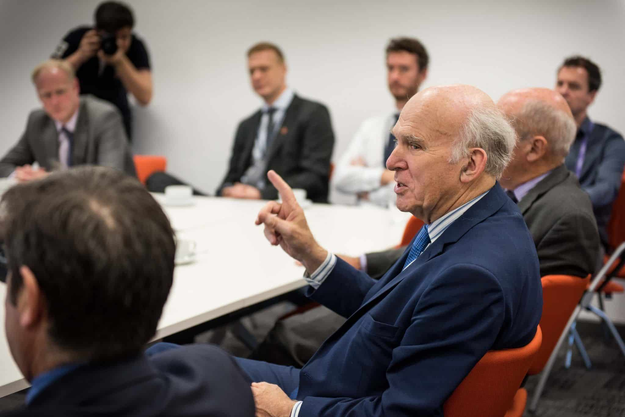 Exeter Science Park Discusses Future of the South West with Sir Vince Cable