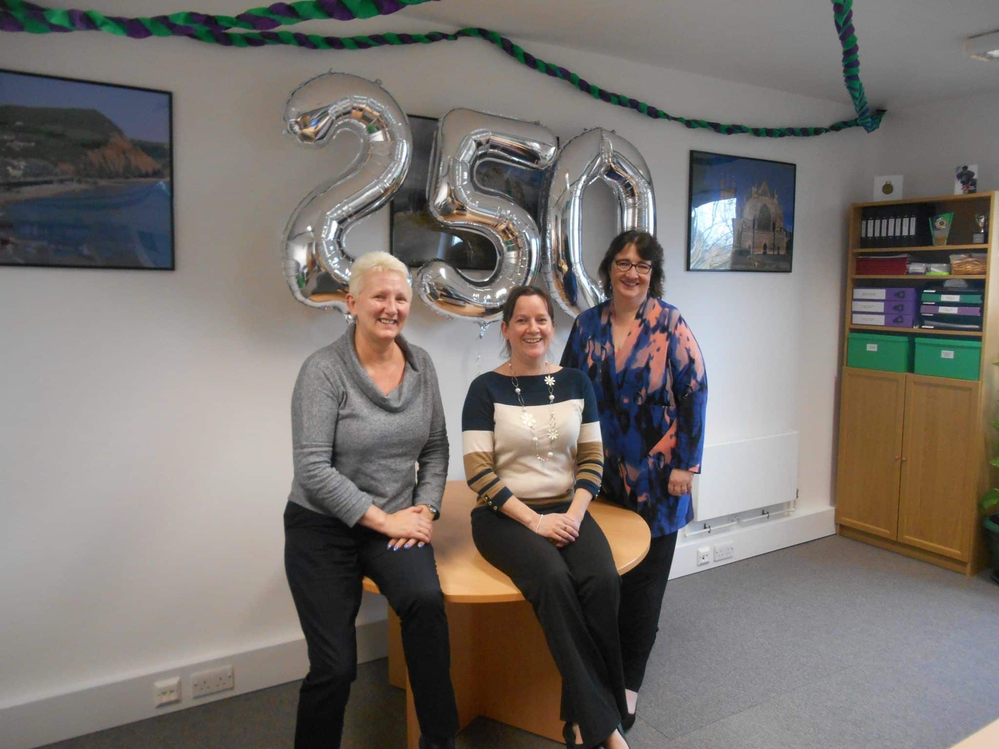 The HR Dept Exeter Celebrates 250 Number of Clients