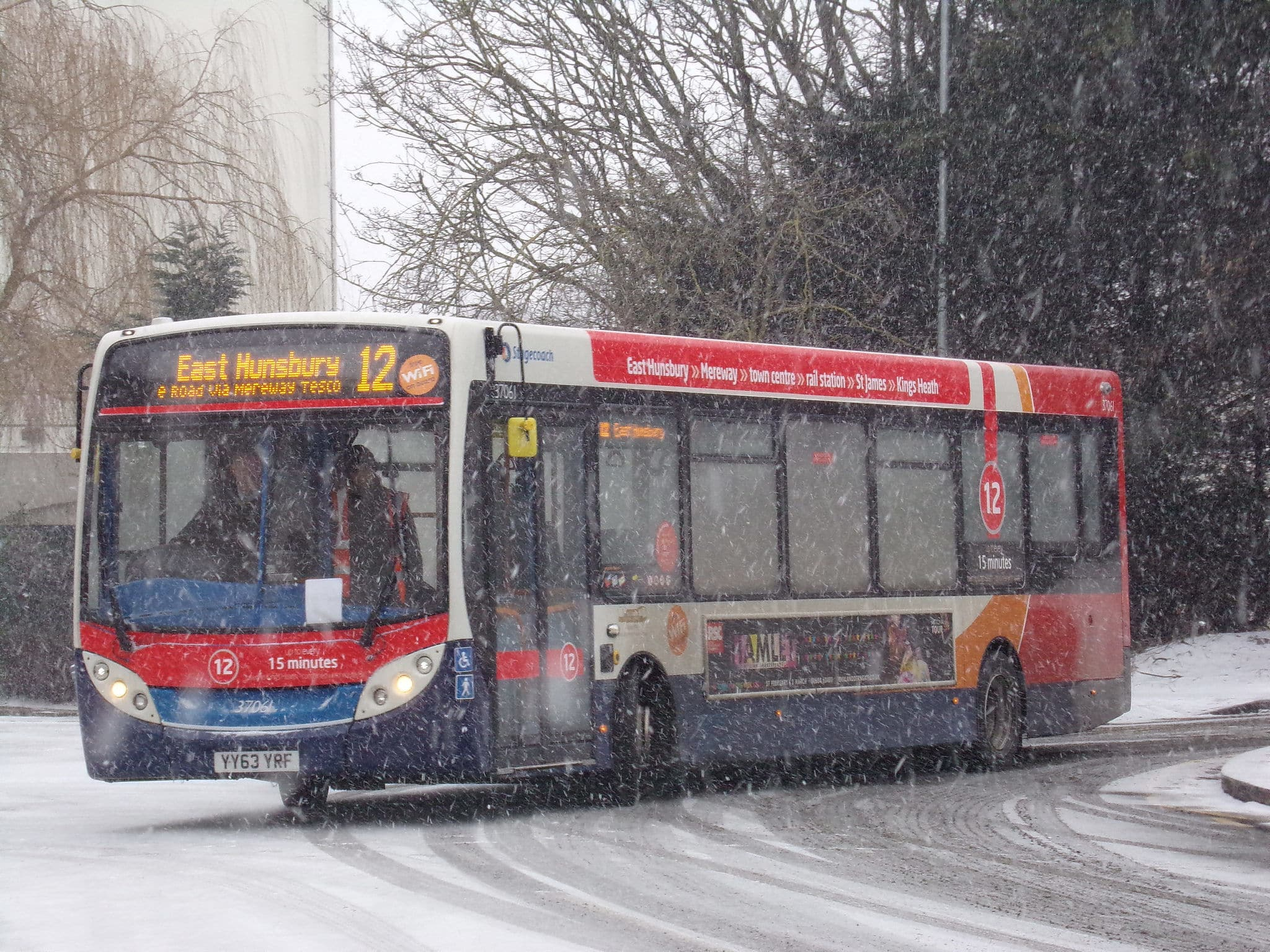 STAGECOACH SOUTH WEST SERVICES SUSPENDED FOLLOWING RED WEATHER WARNING