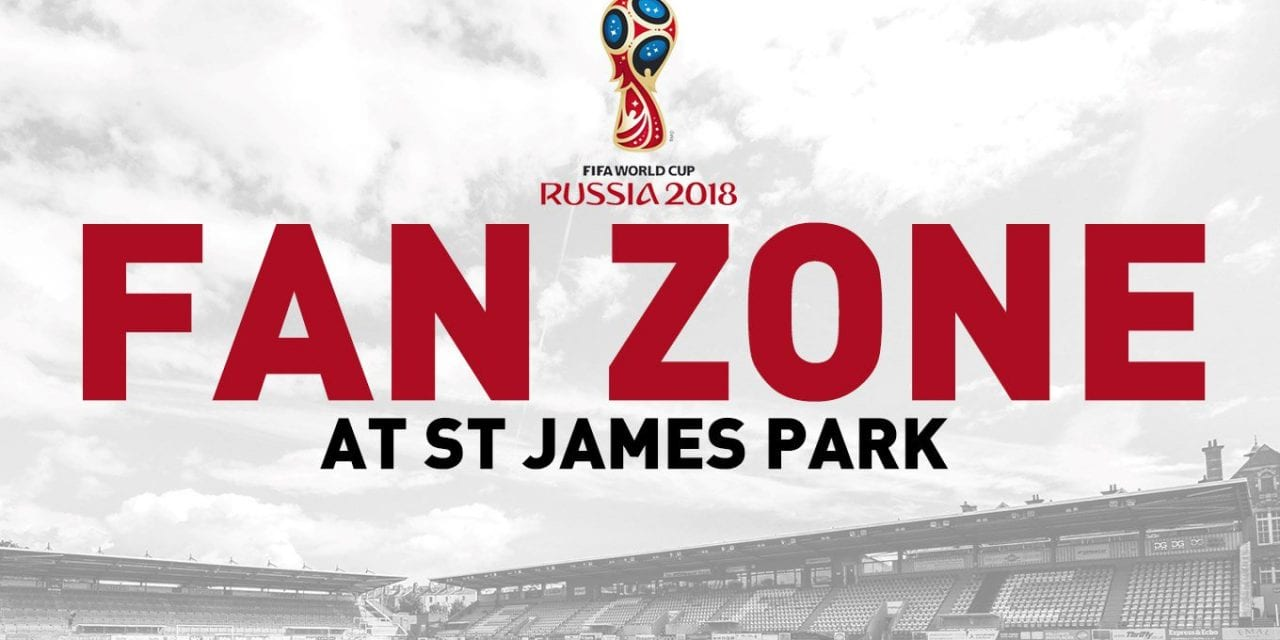 Watch England and support City at St James Park World Cup Fanzone