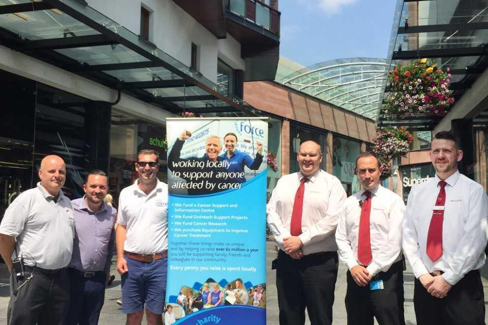 Princesshay Security Team to Walk 70 miles for FORCE Cancer Charity
