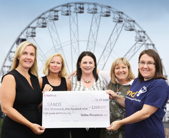 Wollen Michelmore raises funds for SANDS charity