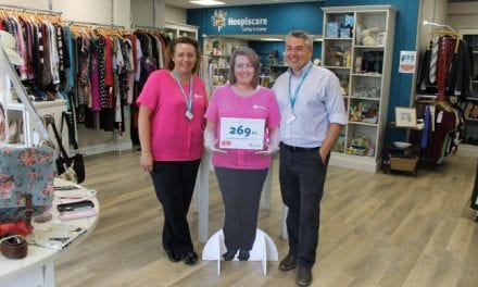 Life-size cut-out of Exeter nurse helps Hospiscare raise funds