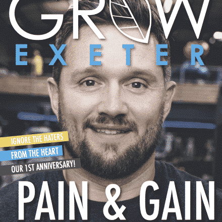 Grow Magazine Front Page September 2018, Pain & Gain