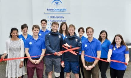 RIBBON CUTTING CEREMONY BY INTERNATIONAL ATHLETES OPENS NEW CLINIC FOR EXETER OSTEOPATHS