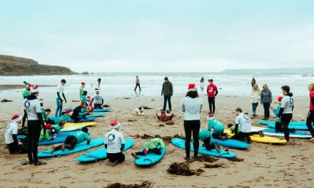 Surfers Take To the Sea for South Devon Santa Surf