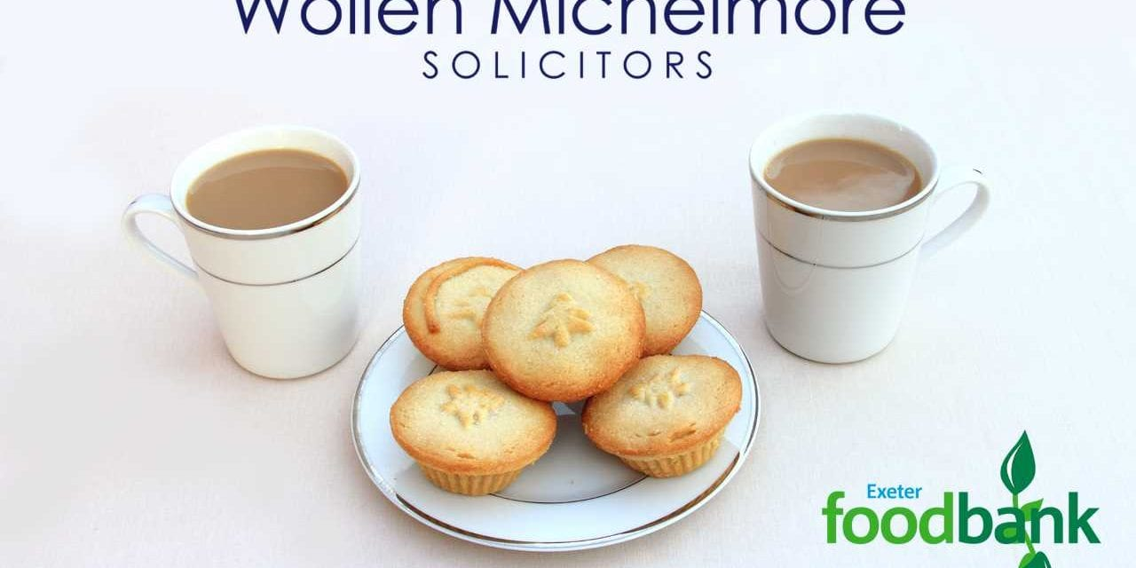 Wollen Michelmore's Coffee & Mince Pie Morning for Exeter FoodBank