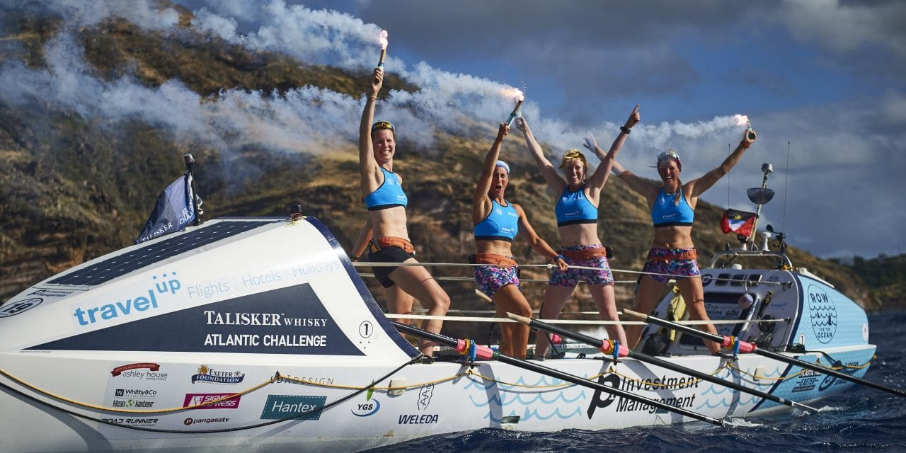 British Female Four Finish Atlantic Adventure To Build Plastic-Free Legacy