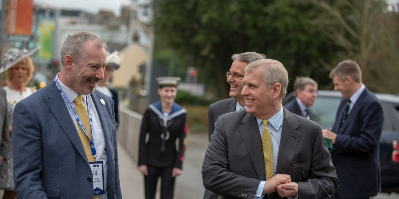 The Duke of York Visits Exeter College For Pitch@Palace 11.0 On Tour Devon