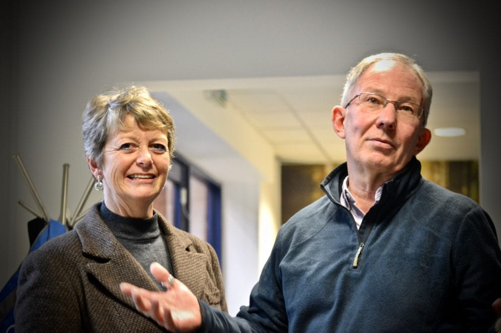 Tony and Stephanie Colston in Grow Exeter's offices