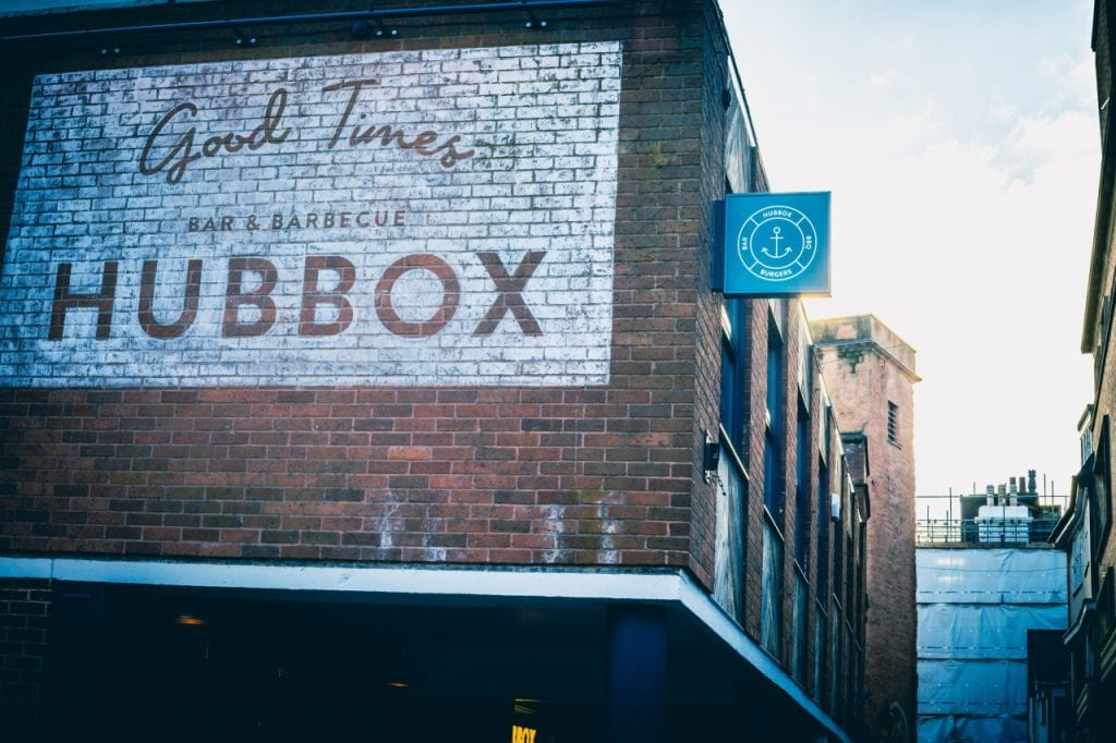 Brickwork exterior of Hubbox Exeter.