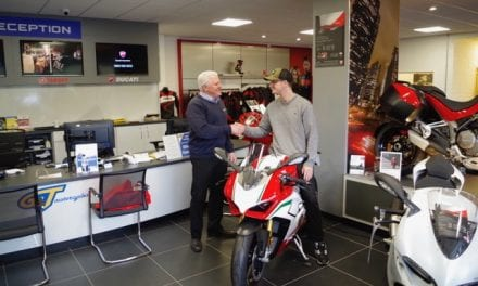 Bike Fan Blair Swinhoe Celebrates Winning A £35,000 Ducati … For A Fiver!