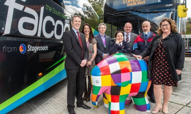 Stagecoach South West Partner With St Luke's Hospice For Elmer's Big Parade Plymouth