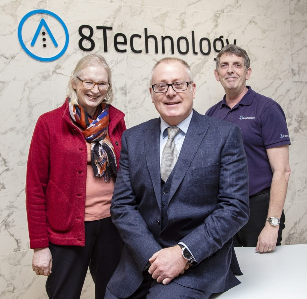 Dr Sally Basker, Mark Dowse and Jim Moore at Eight Technology Ltd.