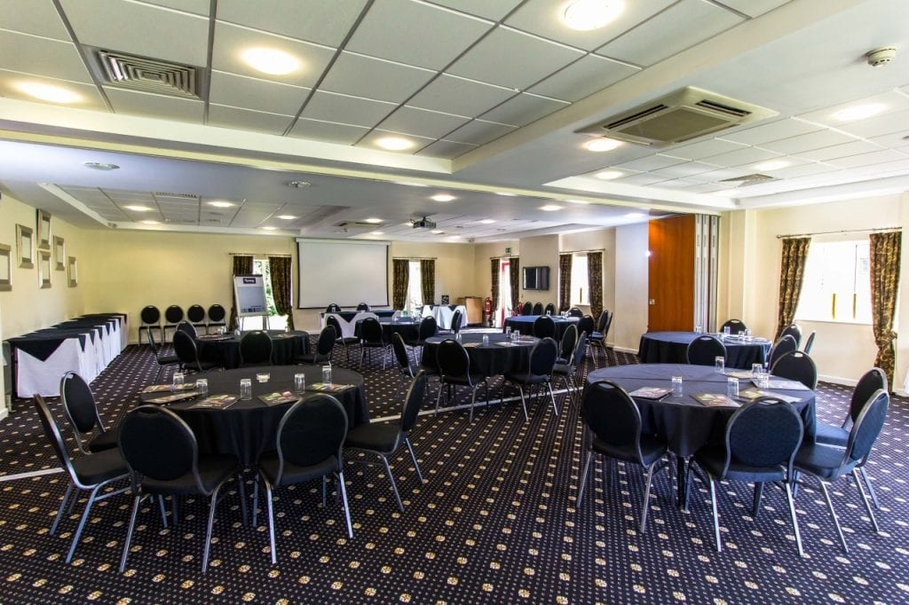 Padbrook Park Hotel's tailor made events room.