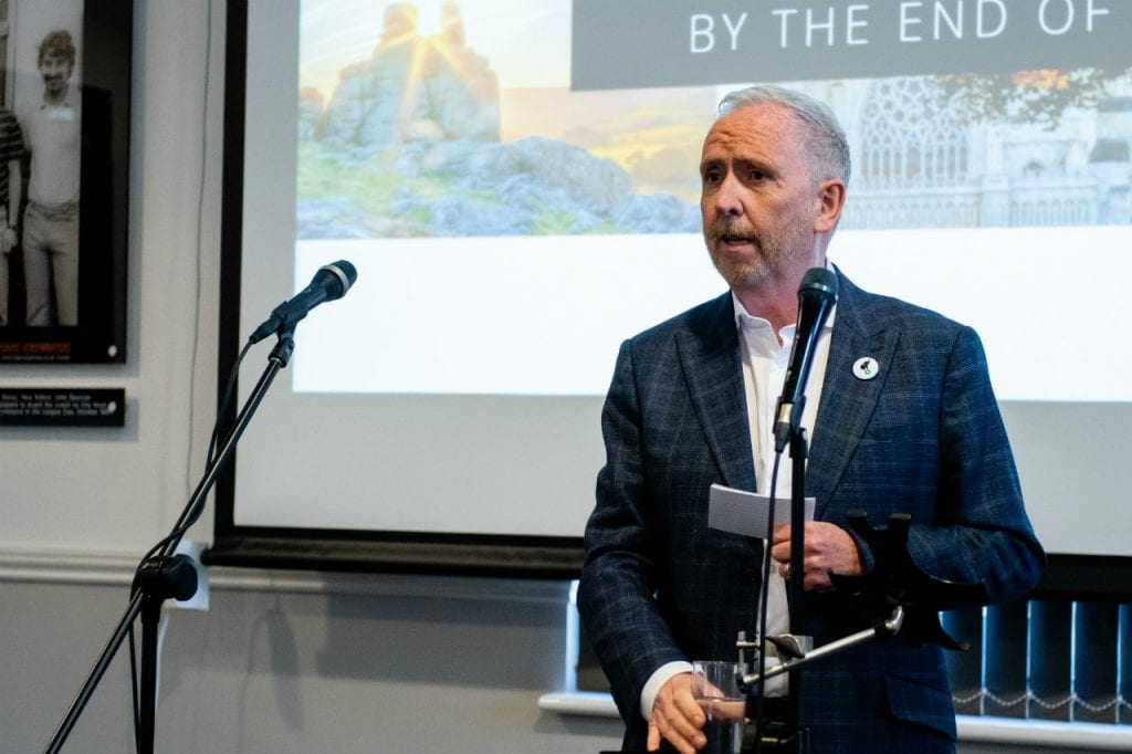 Martin McCourt at the Breathe Exeter initiative launch