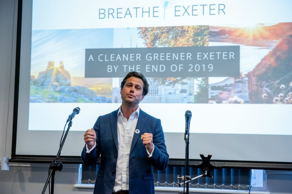 Mark Roberts at the Breathe Exeter initiative launch.