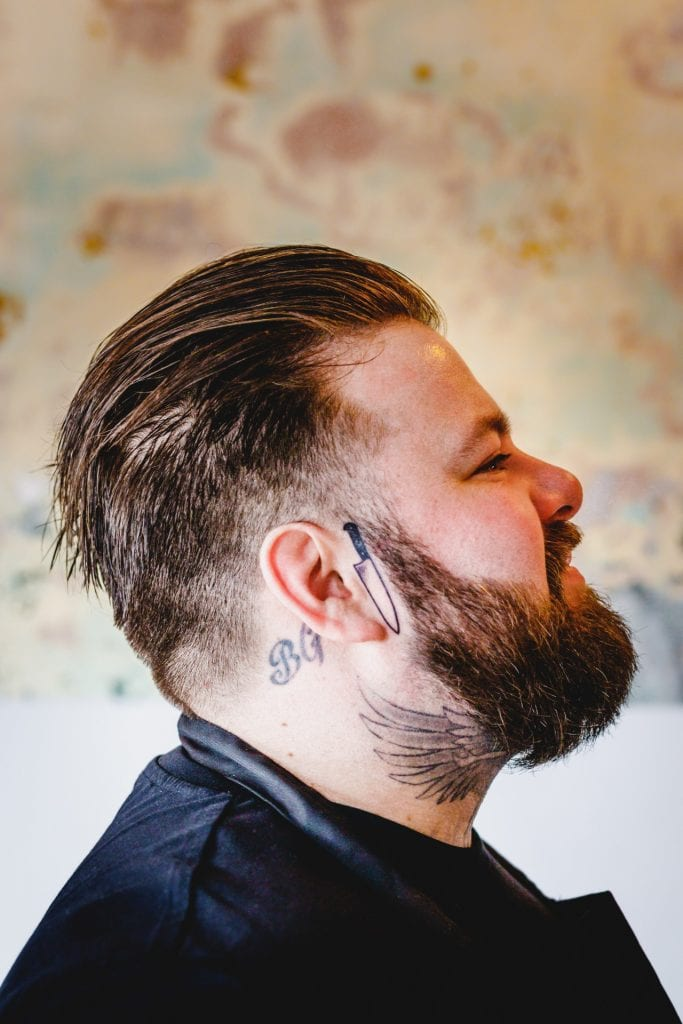 Side profile shot of South Street Standard Head Chef Ben Corcutt.