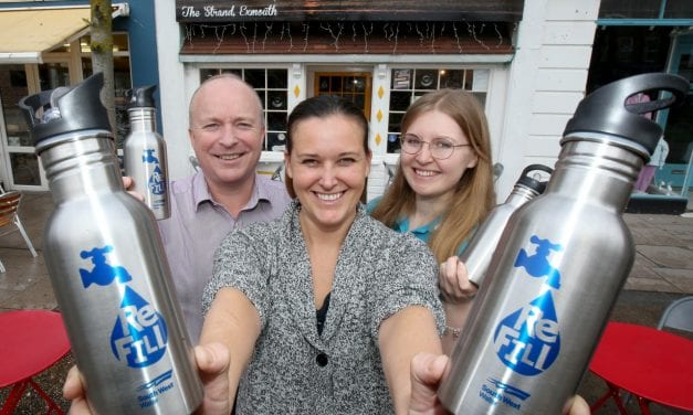 Exmouth Café Joins The Growing ReFill Revolution To Combat Pollution From Plastic Bottles