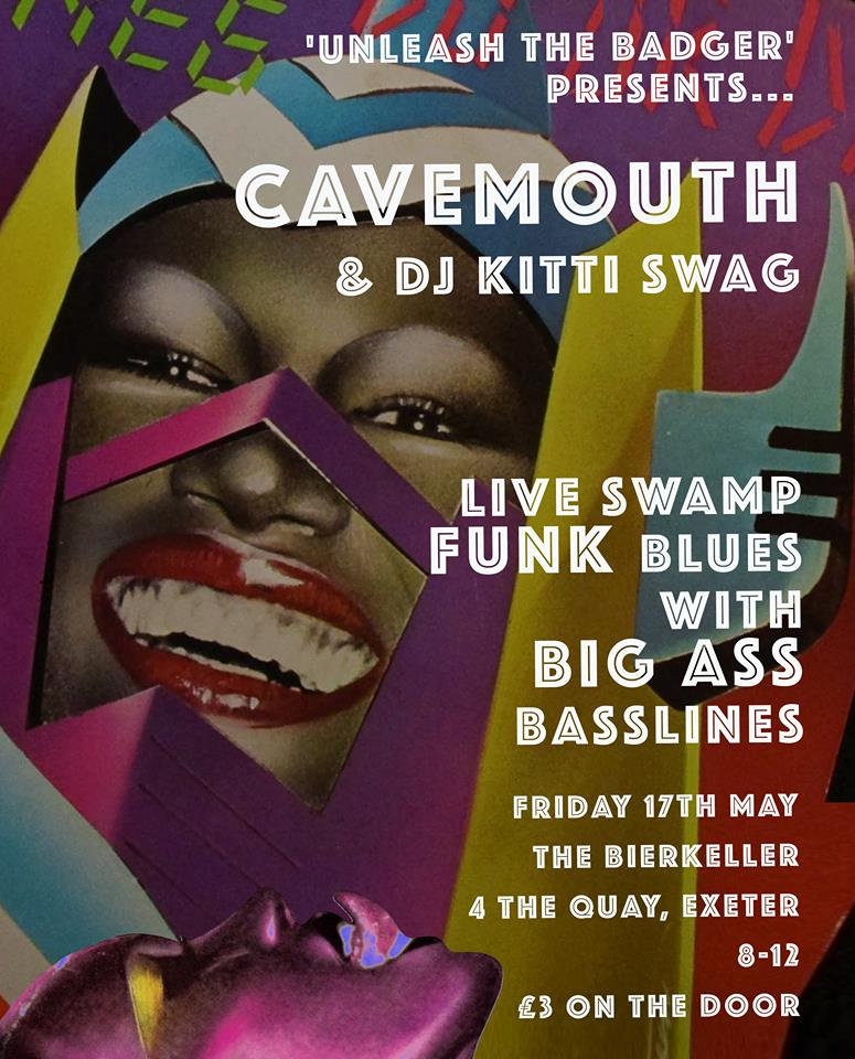 CaveMouth gig at Bierkeller Exeter poster.
