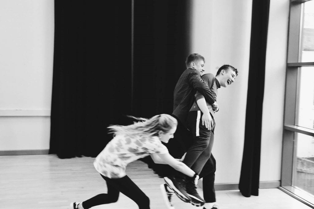 The Young Pretenders Theatre Company in rehearsals.