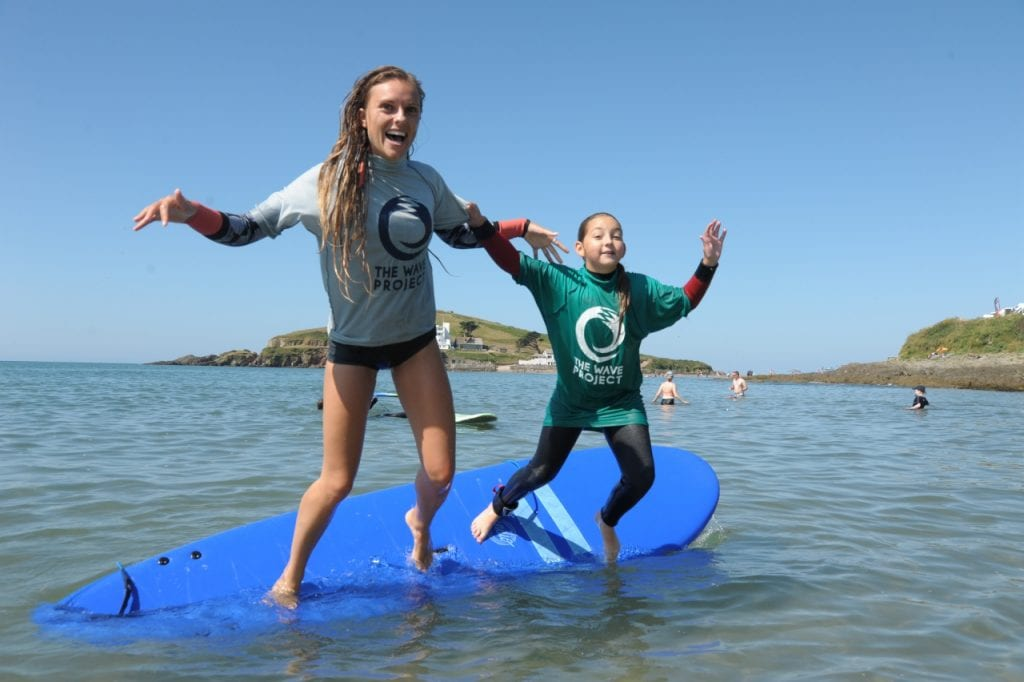Issy Massey volunteering for the South Devon Wave Project