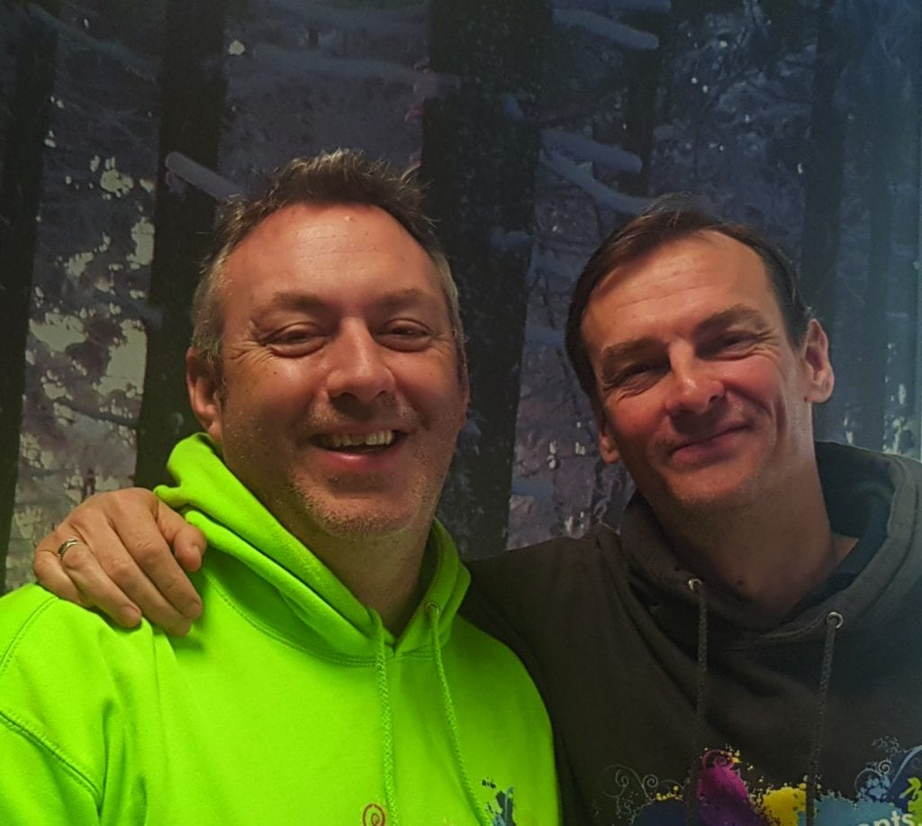 Stuart Crook and Simon Benn from Pop-up Events