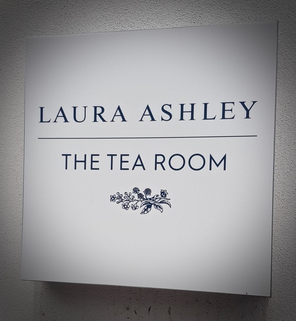 Sign Tea Room Laura Ashley Logo design
