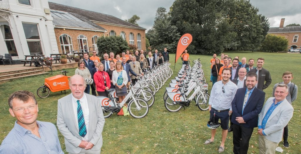 Bikes launch celebrate Exeter County Hall