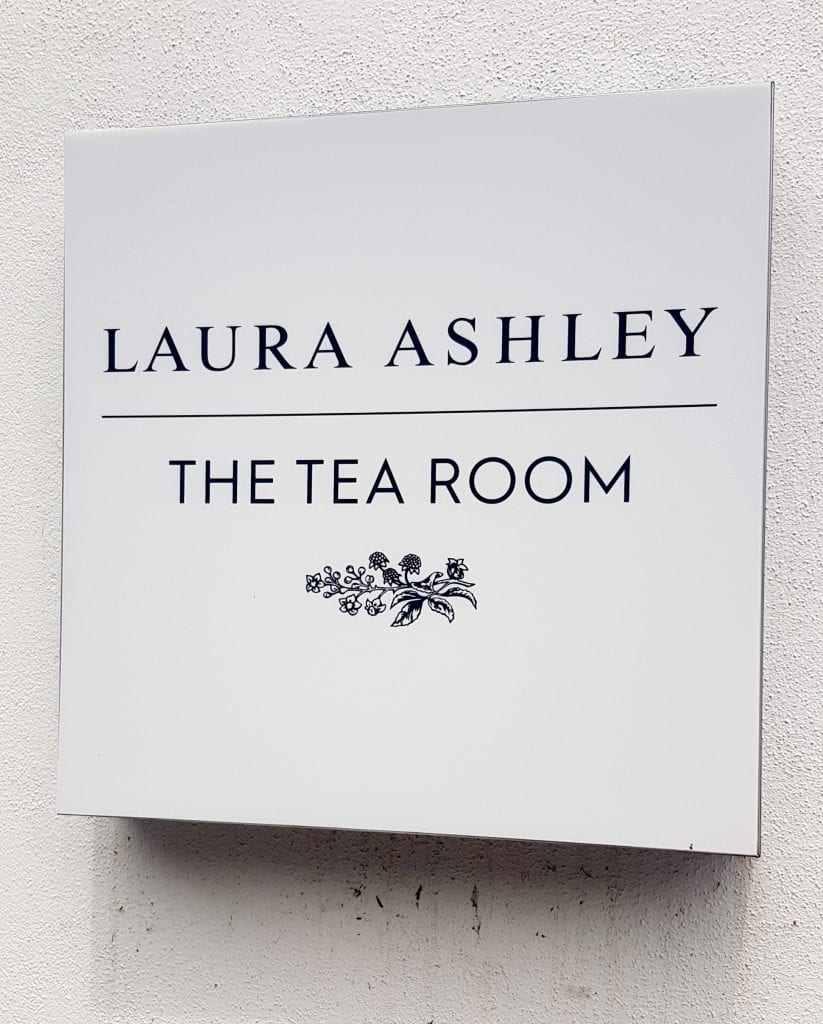 cornwall hotel laura ashley tea room sign