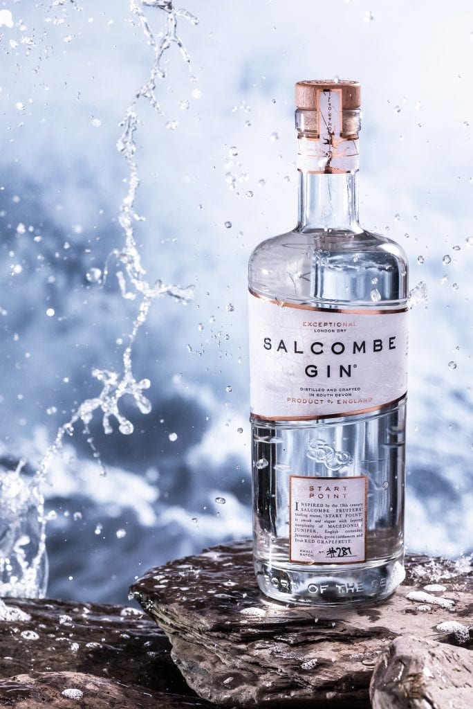 marine conservation society salcombe gin bottle splash water