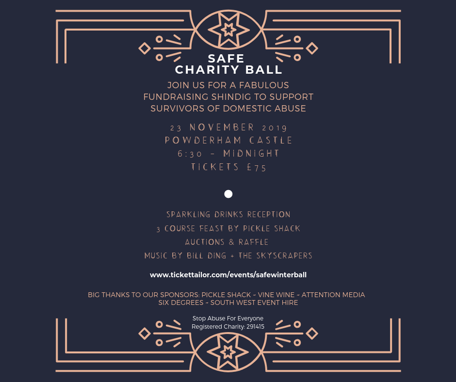safe winter charity ball poster
