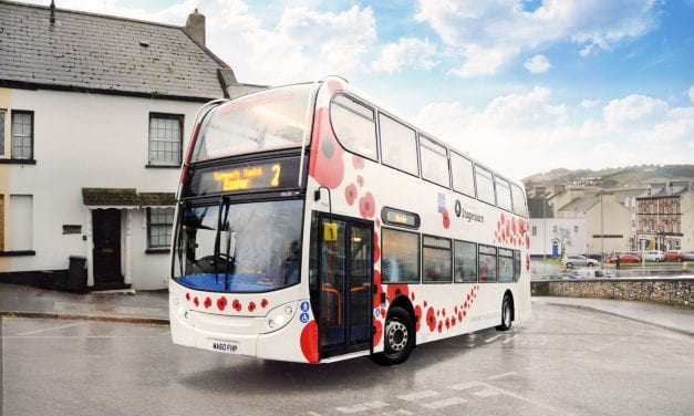 Stagecoach SW Launches Poppy Bus For Remembrance Sunday