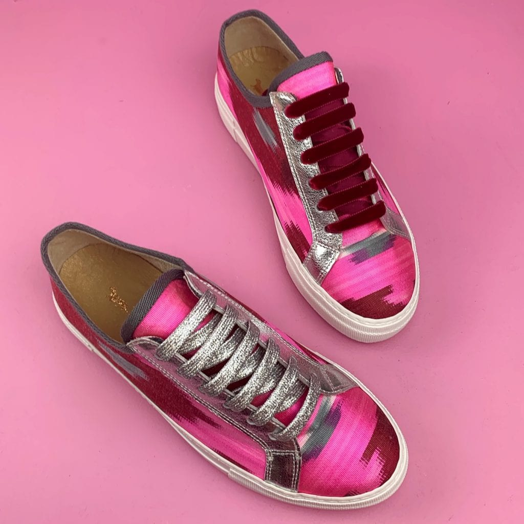 alice pritchard happy sole soul pink trainers