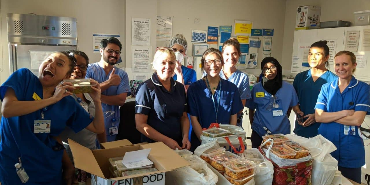 FURLOUGHED LONDONERS UNITE TO HOME COOK AND DELIVER MEALS FOR NHS STAFF