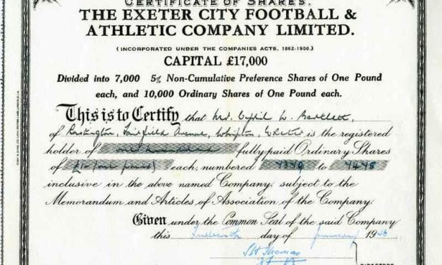Do You Own A Piece Of Exeter City Football Club?