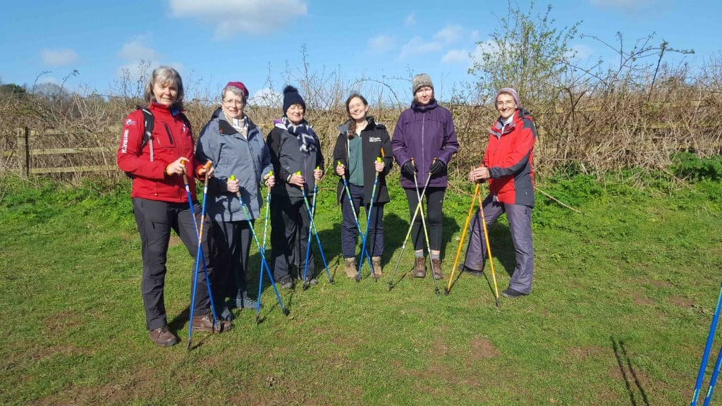 exe nordic walking group pre covid 19