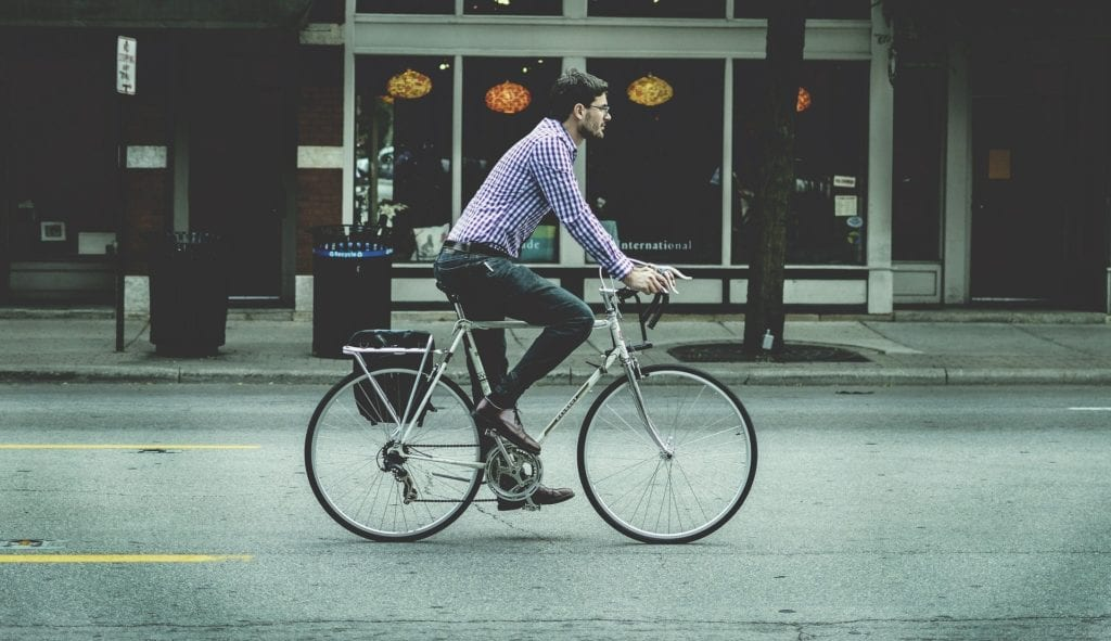man on bicycle