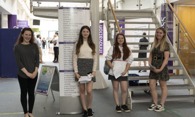 Students celebrate excellent a level results at South Devon College