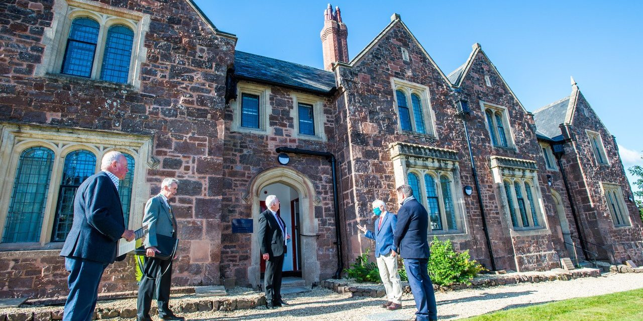 Remodelled 180-year-old Almshouses are officially 'opened' by Exeter's Lord Mayor