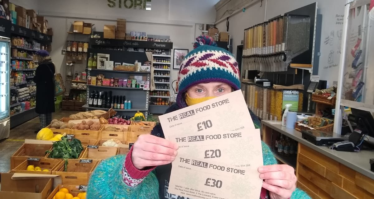 The Real Food Store Partners With Exeter Foodbank