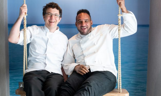 FROM PARIS TO EXMOUTH: SYLVAIN PELTIER & MICHAEL CAINES LAUNCH CAFE PATISSERIE GLACERIE FRANCHISE ON EXMOUTH SEAFRONT